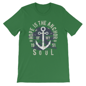 Hope is the Anchor – Men's/Unisex Short Sleeve Plus Size T-shirt