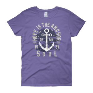 Hope is the Anchor – Women's Short Sleeve Plus Size T-shirt