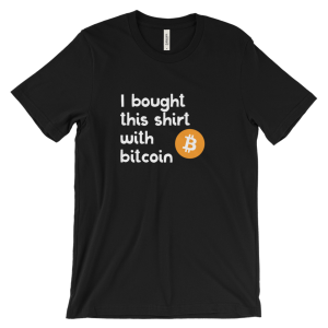 I Bought This Shirt with Bitcoin – Men's/Unisex Short Sleeve T-shirt